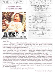 Cercasi Clara Anahí Mariani