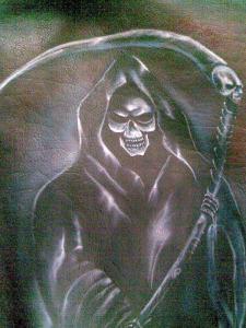 Santa muerte su giacca chamarra