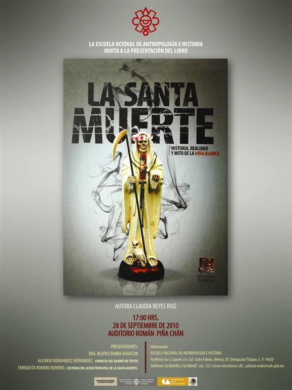Invito alla presentazione del libro La Santa Muerte, ENAH
