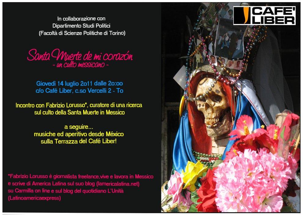 Evento Santa Muerte: il Volantino | l'America Latina