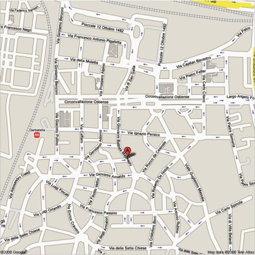Casetta rossa mappa