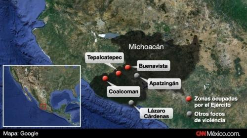 Tierra Caliente mapa-michoacan