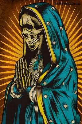 """""""La muerte irá con vosotros"""" Santa-muerte-carton"""