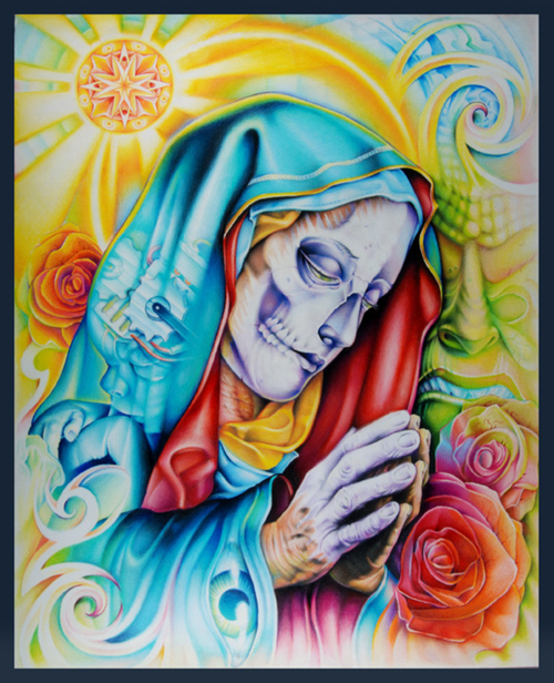santa muerte tatuaggio