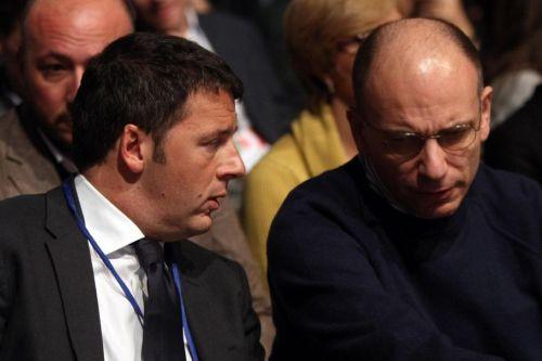 Renzi e Letta in foto