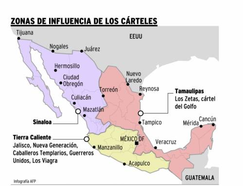 Odoya Mapa referencia narcos