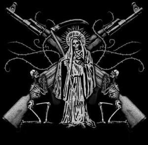 Santa Muerte Bianco e nero