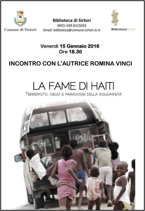 La fame di Haiti presentazione 15 gen