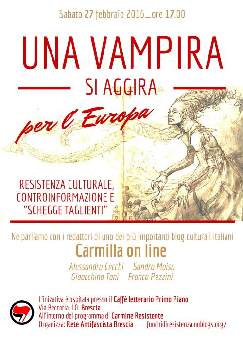 Manifesto Carmilla Brescia 27 feb 2016