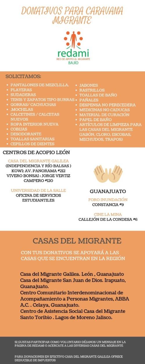 Acopio ayuda León migrantes