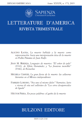 Letterature d'America n. 173 2019 copertina