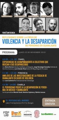 Foro violencia desapariciones GTO 30nov19 Programa